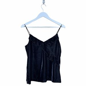 J. Crew Going Out Velvet Camisole Top Black 0 NEW